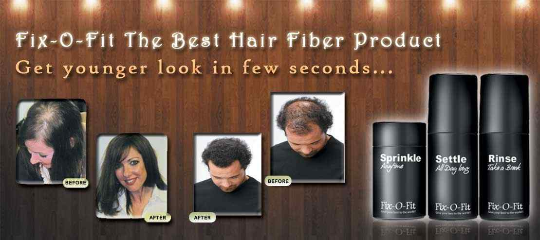 All hair fibers at one place